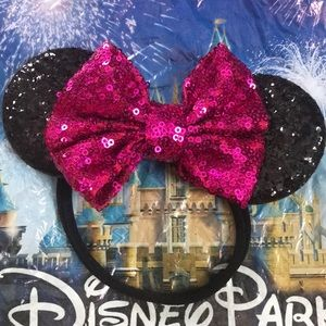 Minnie Mouse Ears for toddlers pink/black